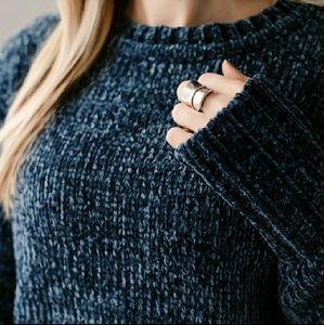 Jewel Blue Chenille Sweater